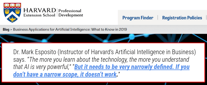 how to get success from AI